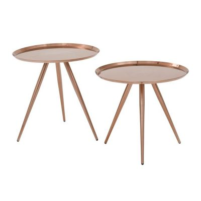 Tiffany Side Table in Brushed Copper - TIFA753-RC