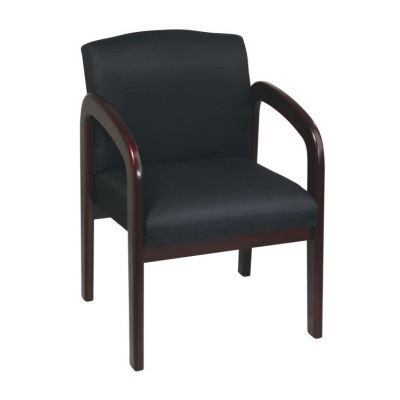 Mahogany Wood Visitor Chair in Black Triangle - WD383-363