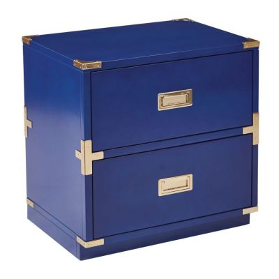 Wellington 2-Drawer Cabinet in Lapis Blue - WEL1622-LP
