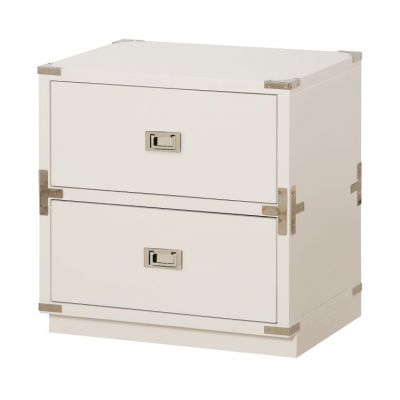 Wellington 2-Drawer Cabinet in White - WEL1622-WH