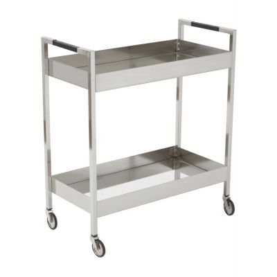Wilshire Stainless Cart in Brushed Nickel - WIL4160-BN