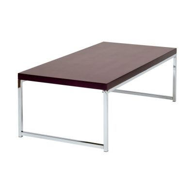Wall Street Coffee Table in Espresso & Chrome - WST12