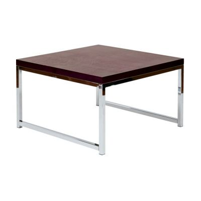 Wall Street 28'' Table in Espresso & Chrome - WST17