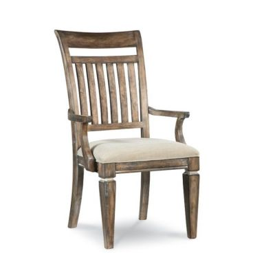 Brownstone Village Slat Back Arm Chair In Aged Patina - 2760-341 KD