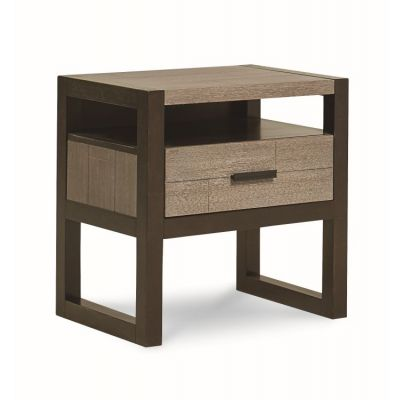 Helix Night Stand In Charcoal & Stone - 4660-3101