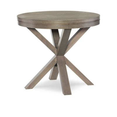 Highline Round Lamp Table In Greige - 6000-508