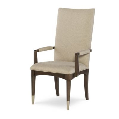 Soho Upholstered Back Arm Chair In Ash - 6020-141 KD