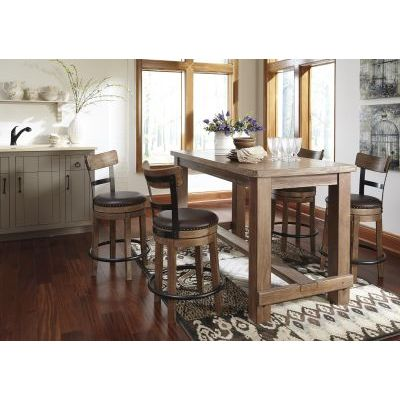 Pinnadel 5 Piece Kitchen Dining Set in Light Brown