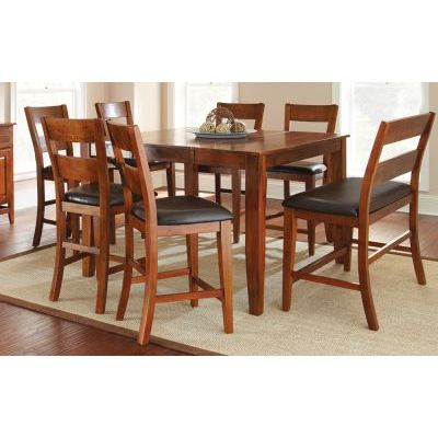 Wayfare 8 Piece Contemporary Counter Dining Set in Oak - 001490_Kit