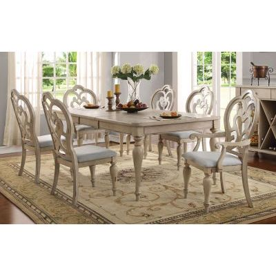 Abelin 7 Piece Dining Set in Antique White - 000416_Kit