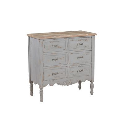Piper Grey Hall Chest with Distressed Grey Finish - 14A2056G