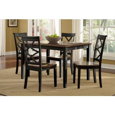 Harrison 5 Piece Stoneberry Dining Set in Black & Cherry - 14D2041BL