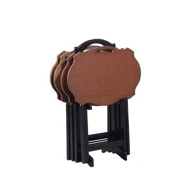 Serpentine Black Tray Table - 15A8088TT