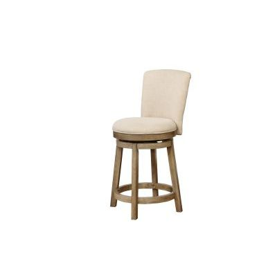 Davis Counter Stool in Cream and Brown - 15B8193CS