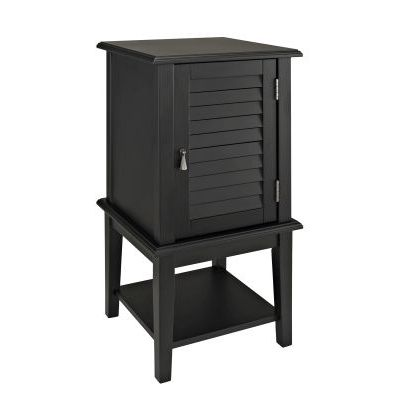 Black Shutter Door Table - 271-352
