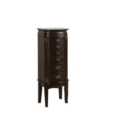 Italian Influenced Transitional 'Espresso' Jewelry Armoire - 358-315