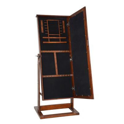 Walnut' Cheval Jewelry Wardrobe - 597-514