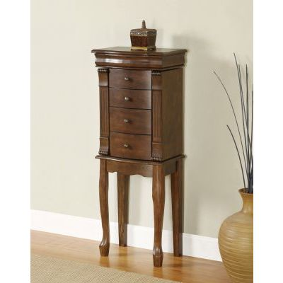 Louis Philippe 'Walnut' Jewelry Armoire - 741-319