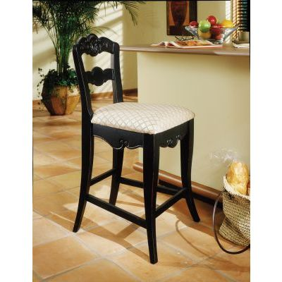 Hills Of Provence 24' Counter Stool in Antique Black - 896-430