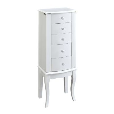 White Jewelry Armoire - 929-521