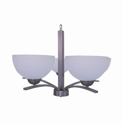 Alta Peak 5 Light Chandelier in Satin Steel Finish - 107-5U-AWSS