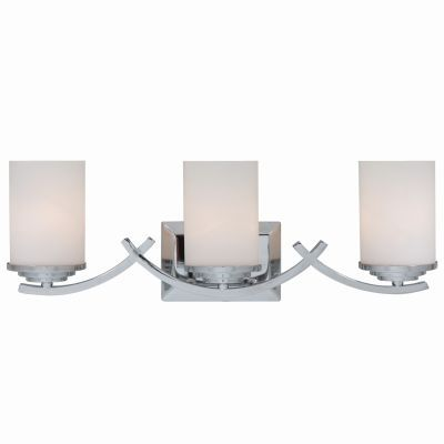 3 Lights Vanity with White Opal Glass - 4090-3V-CH