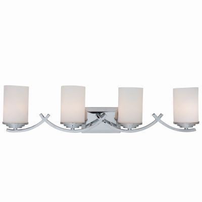 4 Lights Vanity with White Opal Glass - 4090-4V-CH