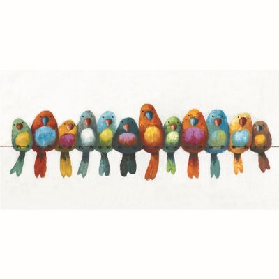 Birds on a Wire I Original Hand Painted Wall Art - ARTAC0436C
