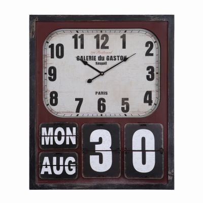 Rectangular Wall Clock with Glass - CLKC1294