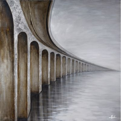 Bridge to Nowhere Original Hand Painted Wall Art - DCF257