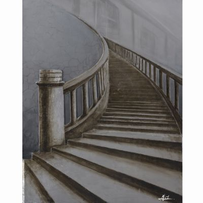 Up Stairs Original Hand Painted Wall Art - DCF266