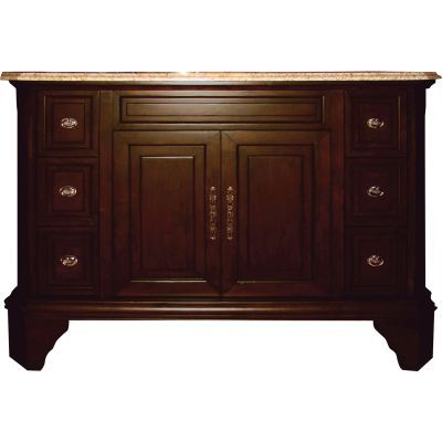 48 Inch Single Vanity in Brown Birch Finish - TAMARACK48SV8