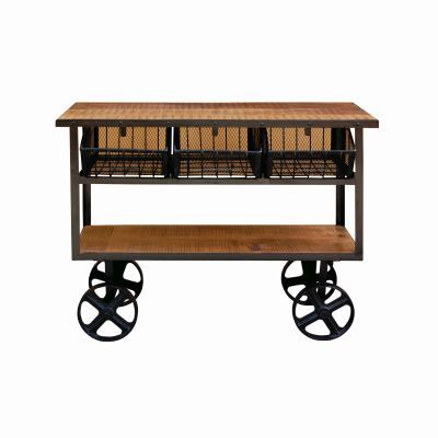 Solid Mango Wood Cart - YFUR-VAIF325