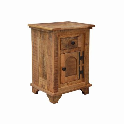 Solid Mango Wood Side Table - YFUR-VAWC1534