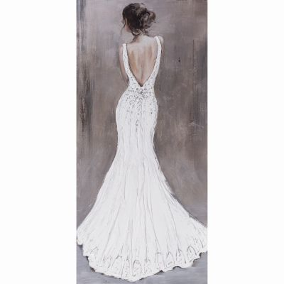 Woman in White Original Hand Painted Wall Art - YK150944A