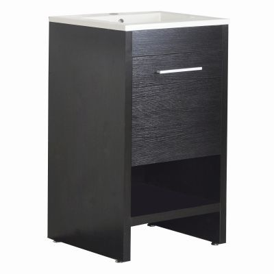 20 Inch Single Vanity in Black Finish - YVEC-5101BK
