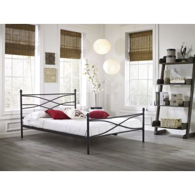 Verity Queen Bed with Mattress in Black - 001693_Kit