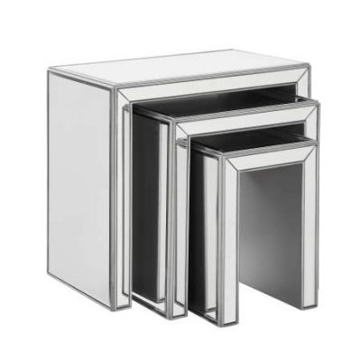 Chamberlan Silver Nested Tables 3 Piece - MF6-1013S