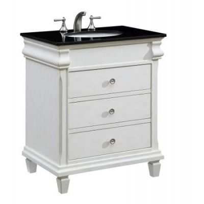 30'' Single Bathroom Vanity set in Antique White - VF-1021