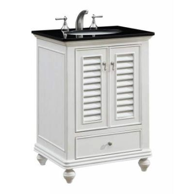 25'' Single Bathroom Vanity set in Antique White - VF-1022