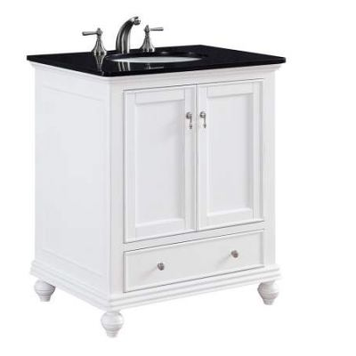 30'' Single Bathroom Vanity set in White - VF-1023
