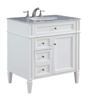 32'' Single Bathroom Vanity set in White - VF-1024