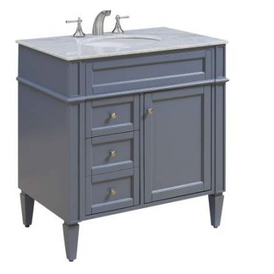 32'' Single Bathroom Vanity set in Grey - VF-1025