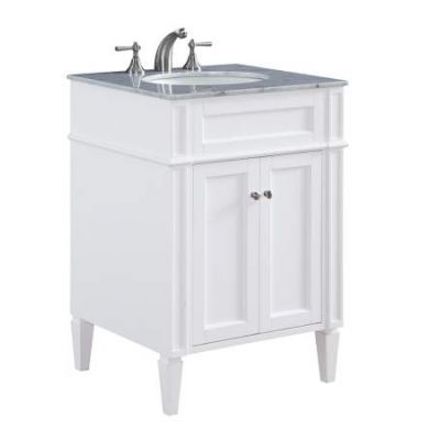 24'' Single Bathroom Vanity set in White - VF-1026