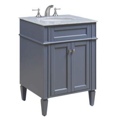 24'' Single Bathroom Vanity set in Grey - VF-1027