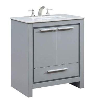30'' Single Bathroom Vanity set in Grey - VF-1028