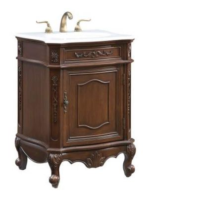 24'' Single Bathroom Vanity set in Coffee - VF-1031