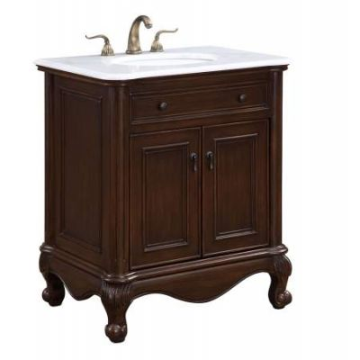 30'' Single Bathroom Vanity set in Teak color - VF-1032