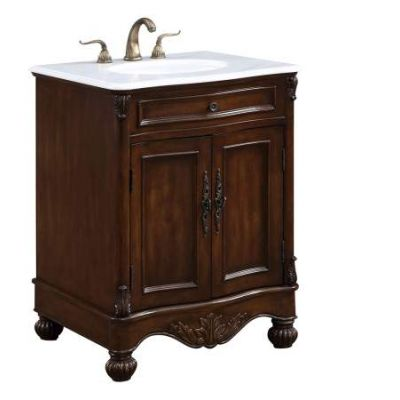 27'' Single Bathroom Vanity set in Teak color - VF-1033