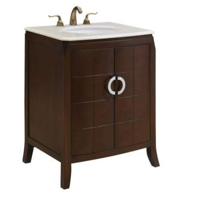 27'' Single Bathroom Vanity set in Brown - VF-1035